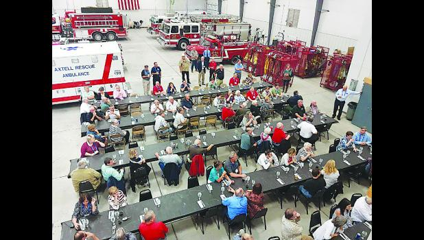 Axtell Fire Department hosted a dinner for the National Volunteer Fire Council at the fire station on Sept. 28.