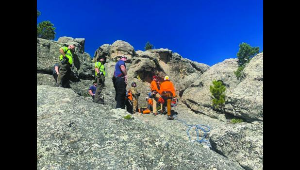 A 21-year-old female hiking on Mount Baldy was rescued by with the help of a helicopter Thursday, July 16, 2020. Battle Creek Fire Protection District, un-incorpor-ated Pennington County.